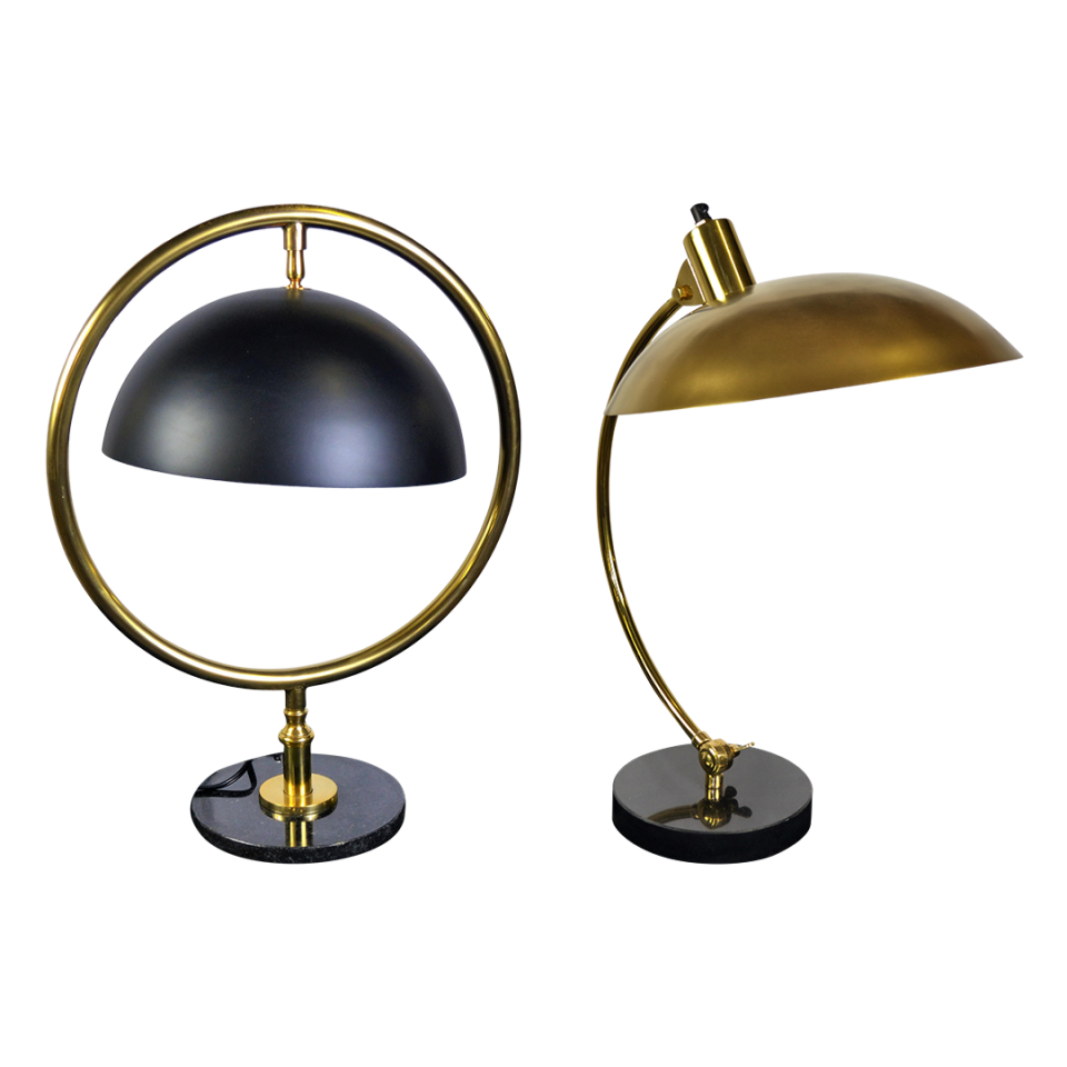 Bungalow 5 Portman Brass and Diplomat Lamps